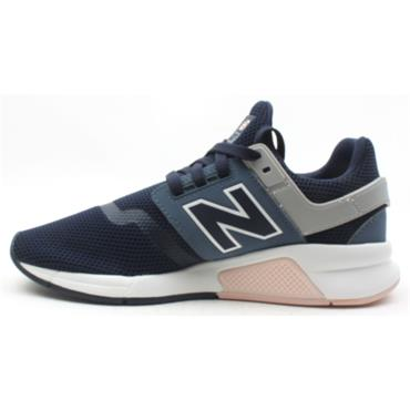 NEW BALANCE WS247TRF LACED RUNNER - NAVY