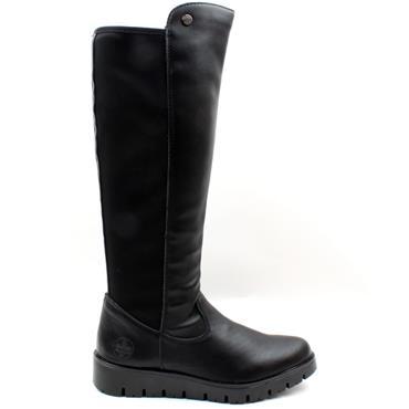RIEKER X2392 KNEE HIGH BOOT - Black