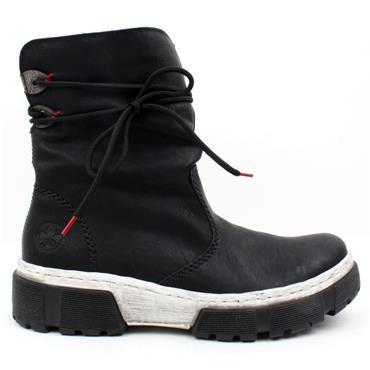 RIEKER X8658 BOOT - BLACK/WHITE