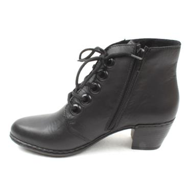 RIEKER Y2100 LACED ANKLE BOOT - Black