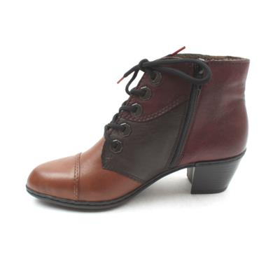 RIEKER Y2133 LACED ANKLE BOOT - TAN