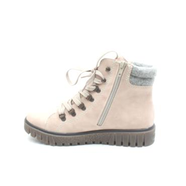 RIEKER Y3440 LACED ANKLE BOOT - ROSE