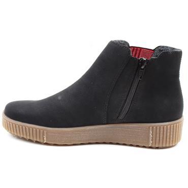 RIEKER Y6461 GUSSET BOOT - Black