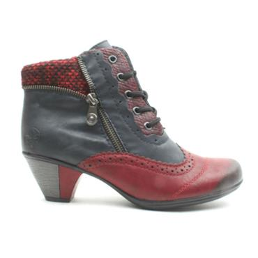 RIEKER Y7211 LACED BOOT - NAVY MULTI