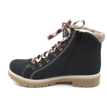 RIEKER Y9402 LACED ANKLE BOOT - NAVY