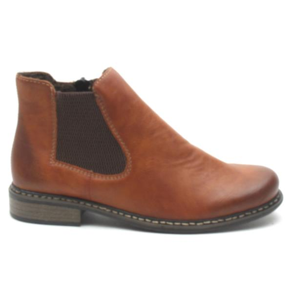 Rieker Z4994 Gusset Boot Tan
