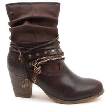 ZANNIE & CO ZABIDONE  BOOT - BROWN