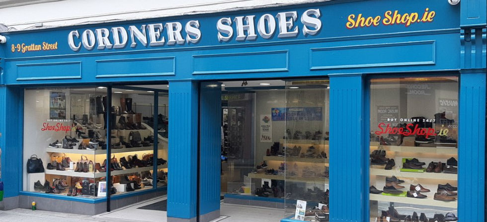 Cordners Shoes Sligo shopfront