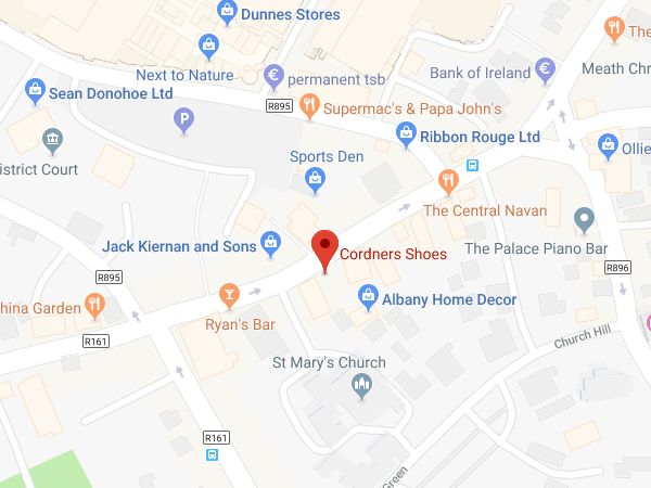 Cordners Shoes Navan location map