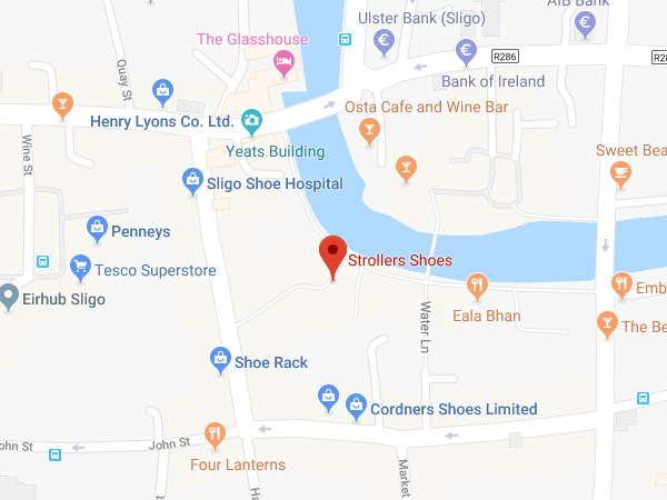 Strollers Sligo location  map