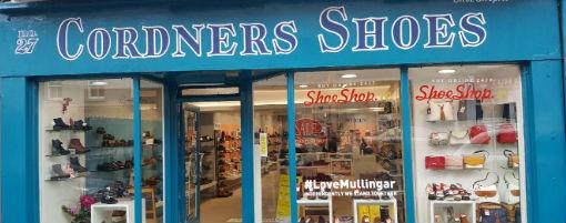 Cordners Shoes Mullingar shopfront