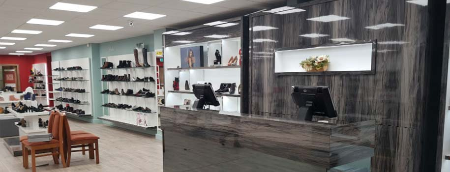 Cordners Shoes Navan shop interior
