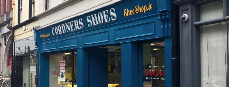 Cordners Shoes Sligo shopfront