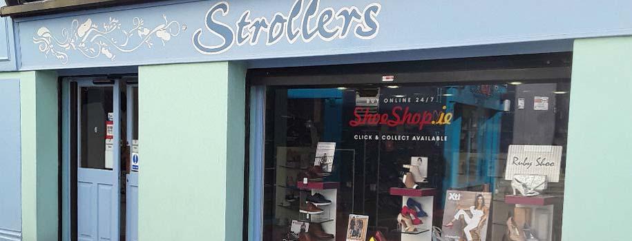 Strollers Shoes Sligo shopfront