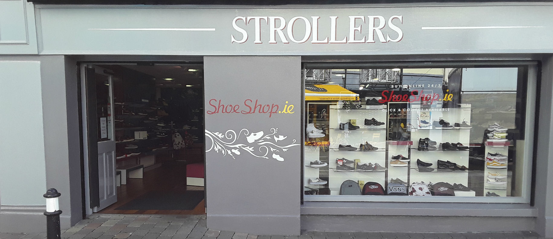 Strollers Shoes Sligo shopfront