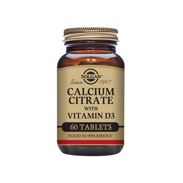 Solgar Calcium Citrate with Vitamin D3 Tablets 60 pack