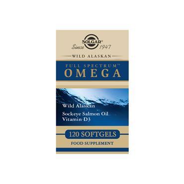 Solgar Wild Alaskan Full Spectrum Omega Softgels 120 pack