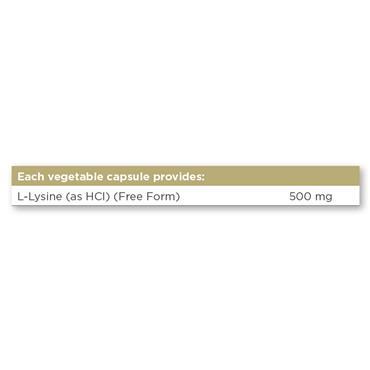 Solgar L-Lysine 500 mg Vegetable Capsules 50 pack