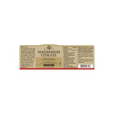 Solgar Magnesium Citrate Tablets 60 pack