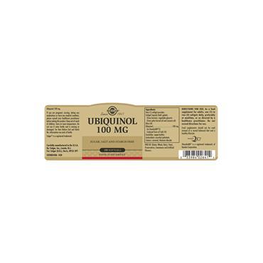 Solgar Ubiquinol 100 mg Softgels 50 pack