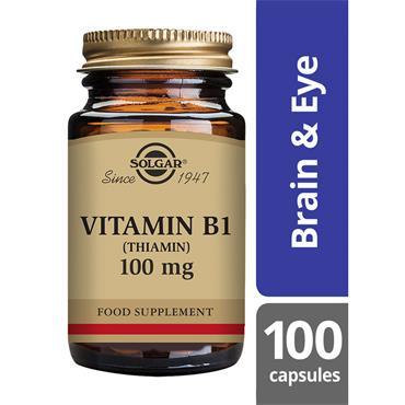 Solgar Vitamin B1 (Thiamin) 100 mg Vegetable Capsules 100