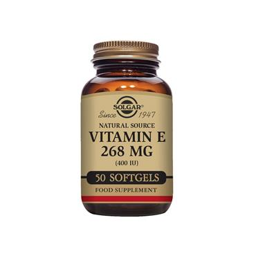 Solgar Natural Source Vitamin E 268 mg (400 IU) Softgels 50 pack