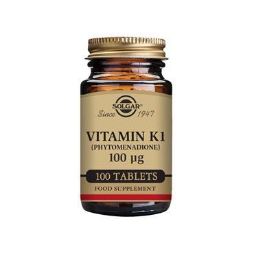 Solgar Vitamin K1 (Phytomenadione) 100 µg Tablets 100