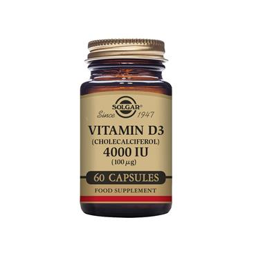 Solgar Vitamin D3 (Cholecalciferol) 4000 IU (100 µg) Vegetable Capsules - 60 cap