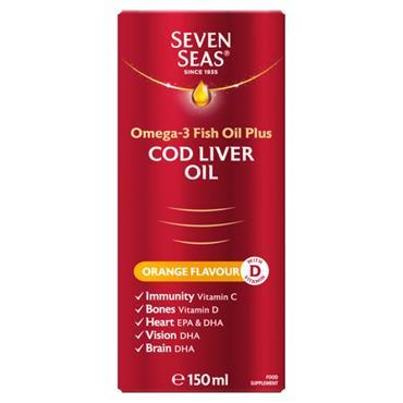 Seven seas PURE COD LIVER OIL & ORANGE SYRUP 150ml