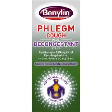 Benylin Phlegm Cough Plus Decongestant 100Ml