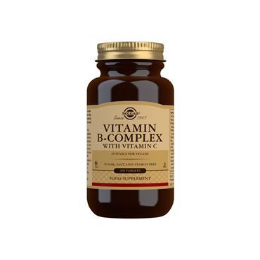 Solgar Vitamin B-Complex with Vitamin C Tablets 250