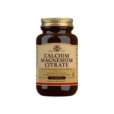 Solgar Calcium Magnesium Citrate Tablets 50 pack