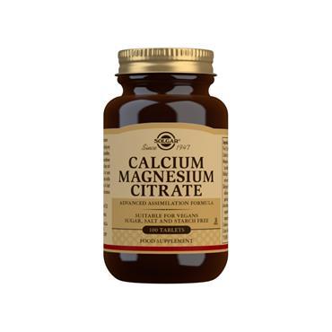 Solgar Calcium Magnesium Citrate Tablets 100