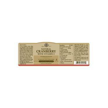 Solgar Natural Cranberry with Vitamin C Vegetable Capsules 60 pack
