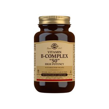 Solgar Vitamin B-Complex 50 High Potency Capsules 50
