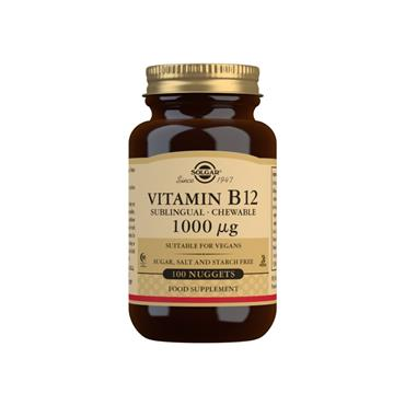Solgar Vitamin B12 1000 µg Sublingual - Chewable Nuggets 100