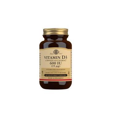 Solgar Vitamin D3 600 IU (15 ug) Capsules 60