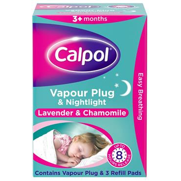 Calpol Vapour Plug And Nightlight Lavender & Chamomile With 3 Refll Pads