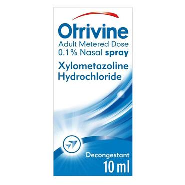Otrivine Adult Metered Dose Decongestant Nasal Spray 10ml
