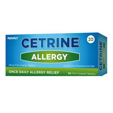 Cetrine Allergy Antihistamine 10Mg Film-Coated 28 tablets