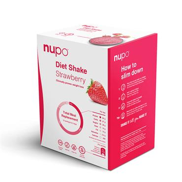 Nupo Diet Shake – Strawberry, 12 serv