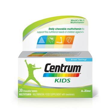 Centrum Kids Multivitamin And Minerals 30 Capsules