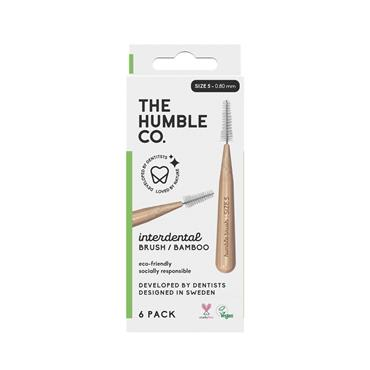 Humble Brush Company Interdental Bamboo Brush Size 5  6-Pack