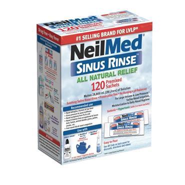 Neilmed Sinus Rinse 120 Regular Premixed Packets
