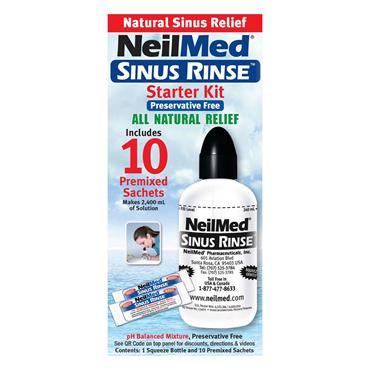 NeilMed Sinus Rinse Starter Kit with 10 Packets