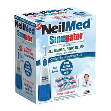 Neilmed Sinugator Cordless Pulsating Nasal Wash 30 premixed packets