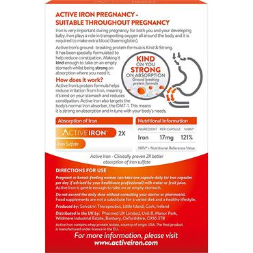 Active Iron Pregnancy, Iron Supplement tablets for Pregancy, 30 capules