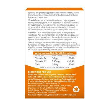 Active Iron for Immune Vitamin D, C & Zinc 30 Capsules