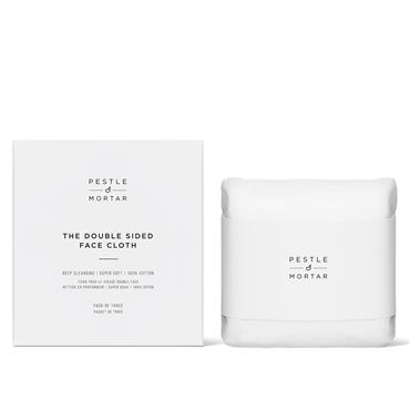 Pestle and Mortar Erase And Renew Double Sided Face Cloths 3pk