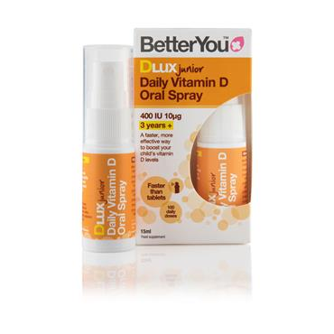 Better You Dlux junior Vitamin D3 400iu Spray 15ml